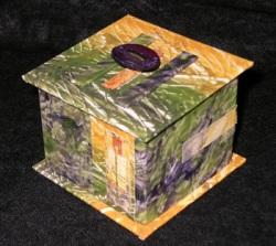 Paste paper mini-box