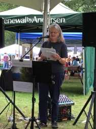 Iris reading at CT Folk Fest
